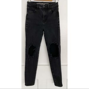 American Eagle Outfitters Black High Rise Jeans